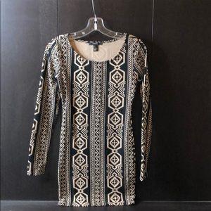 Forever 21 Aztec Print long-sleeve dress